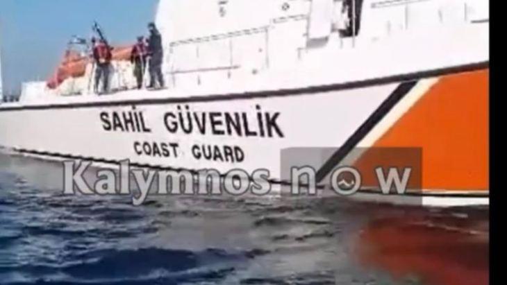 Αποκλειστικό: Τούρκοι λιμενικοί κλέβουν παραγάδι από Καλύμνιους ψαράδες